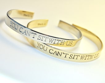 You Can't Sit With Us . Set of 1, 2 or 3 Bracelets . Featured on Buzzfeed . Mean Girls Jewelry . TB&Co