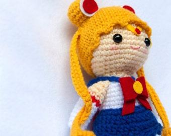 Sailor Moon amigurumi doll
