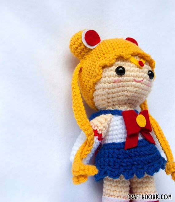 Amigurumi Sailor Moon : Sailor Moon amigurumi doll by TheCraftyDork on Etsy