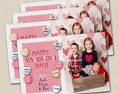 Sweet On You Too Valentine's Day Custom 4x6 Photo Card Printable Design