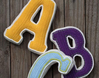 3D LETTER - crochet pattern, PDF, pattern for one letter (PDF in English, Deutsch)