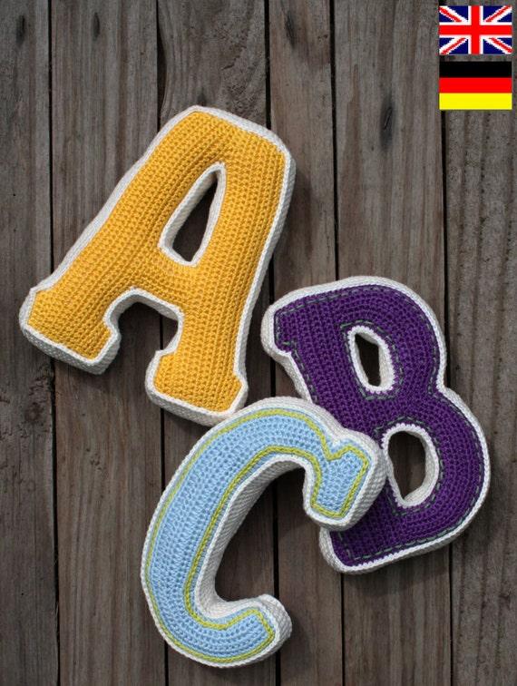 LETTRE 3D - au crochet motif, PDF, mod?le pour une lettre (PDF en ...