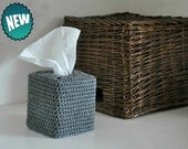 Modern Square Tissue Box Cover Nursery Decoration Grey Home Decor Kleenex Box Cover