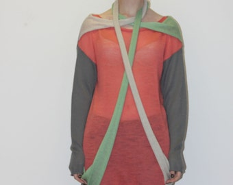 75% OFF SAMPLE SALE!!! Sweater With Decorative Scarves
