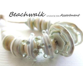 Organic assortment HANDMADE LAMPWORK SRA Artisan Designer Beads Glass By Leese