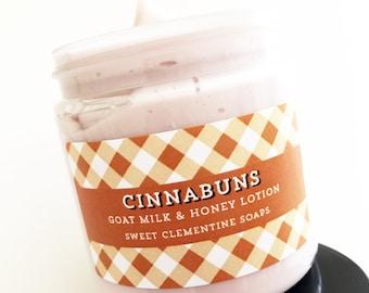 Cinnabuns Lotion, Goat Milk Hand Body Cream, Cinnamon Roll Lotion, Cinnamon Bun Lotion, Cinnamon Roll Moisturizing Cream