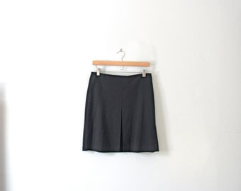 Vintage 90's black short skirt, box pleat, the limited, size 10 / medium