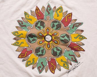 Tribal Art T-Shirt, Jonathan Wyatt Reeves Originals, Vintage 90s