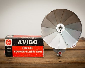 Avigo Bounce-Flash Gun, Crown-BC Model BF-1, Original Box, Vintage 60s