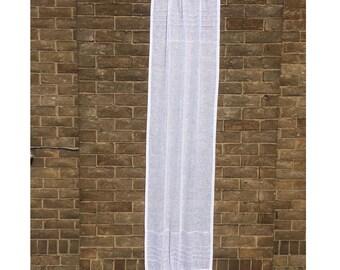 White Door Panel, Kitchen Glass Door Curtain, French Linen Sidelight Curtain, Paris Decor, Sheer Front Door Curtain