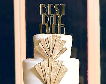 Art Deco Style Cake Topper : Art deco cake topper Etsy