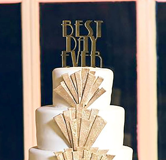 art deco wedding cake topper items similar to wedding cake topper deco great gatsby 10838
