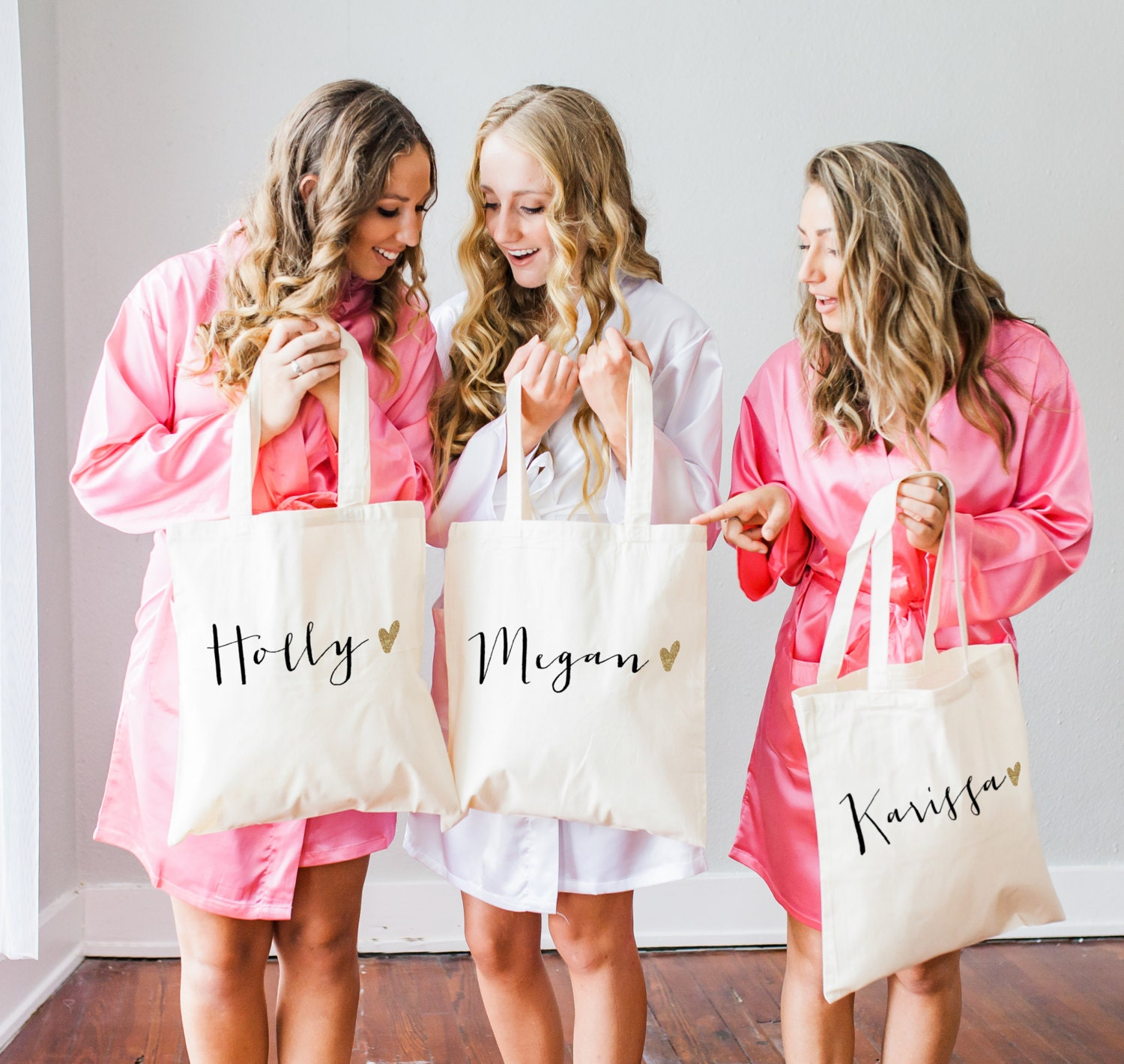 Wedding Gifts From Bridesmaid: Personalized Bag Gift For Bridesmaids Name Tote Bags Canvas