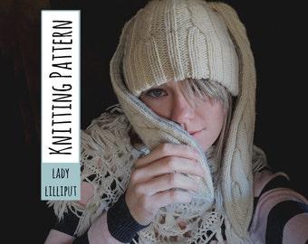 PATTERN - Little Bunny Fu Fu Knit Animal Hat