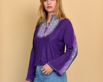 1970s Embroidered top