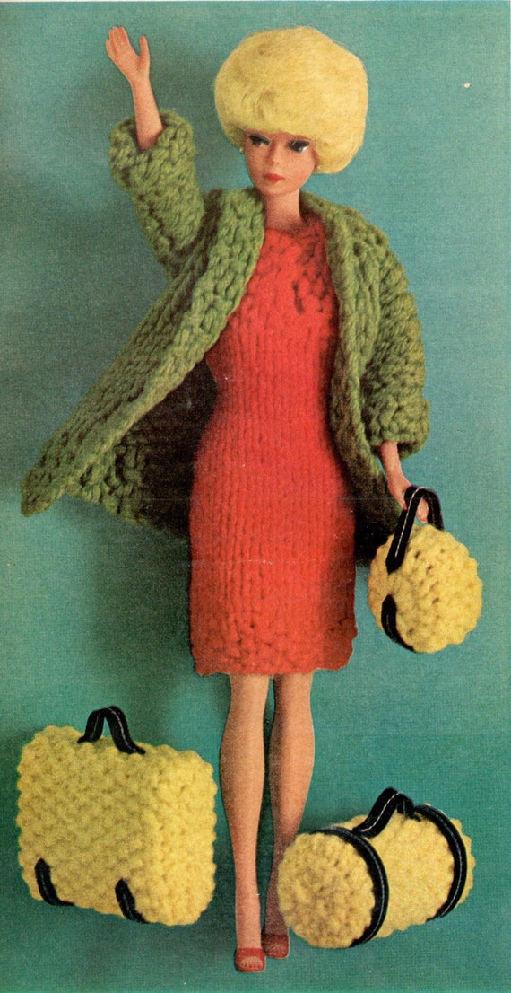 Barbie Doll Knitting Pattern Barbie Clothes Dolls Clothes Vintage