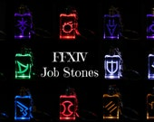 FFXIV Job Icon Keychains - Real Crystal - LED Light -Great Gift for the Final Fantasy XIV Fan! featured image