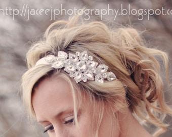 Wedding Head Piece, Rhinestone Hair Accessory , Wedding Headband, Bridal Tiara, Crystal Hair Piece, Hair Comb Embellishment