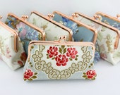 Design Your Own Clutch - Rose Gold Kisslock Clutch, Damask Wedding Purse, Bridesmaids Floral Clutch - 160 Patterns to choose from