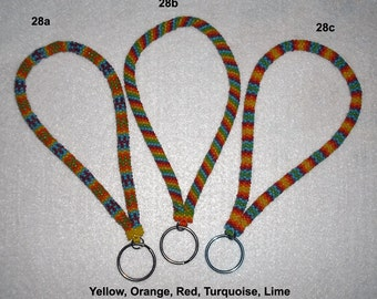 Beaded Bracelet Keychain Key Chain Fob Seed Beads Keys Office Car Work Rope Peyote Jewelry Gift Glass Beads Your Choice