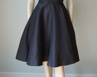 1950s Seymour Jacobson Pure Silk New Look Party Frock // Crystal Pleated Tulle Layered Bust // Small-Medium