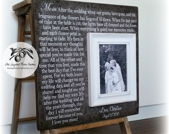 Mother of the Bride Gift, Personalized Picture Frame, After the Wedding When all the Guests have gone, 16x16 The Sugared Plums