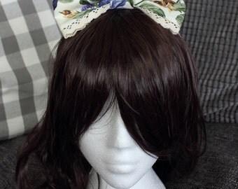 Floral Bow, Classic Lolita Bow, Lolita Bow, Lolita Hair Bow, Big Bow, Head Bow, Lolita, Lace Bow, Flower Bow, Lolita Fashion, Hair Bow