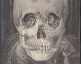 L'Amour de Pierrot, Surreal Memento Mori, circa 1905