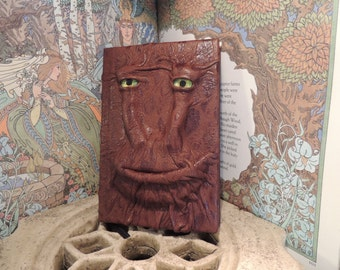 Mythical Beast Book (Brown Spotted  leather with Yellow eyes)