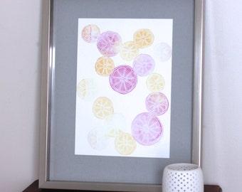 Citrus Art - Grapefruit Art - Fruit Art - Kitchen Art - Kitchen Decor - Fruit Wall Art - Kitchen Wall Art- Citrus Decor- Grapefruit Wall Art