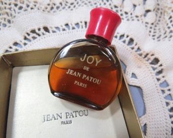 Vintage JOY De Jean Patou Perfume with Original Box, 3/4 Full, Red Cap, French Perfume