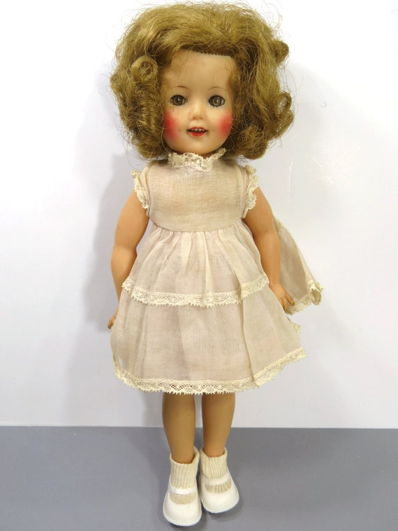 1950 S Shirley Temple Doll Vinyl With Original Organza