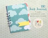 Mini Smashbook Junk Journal Scrapbook Notebook . Travel Trip Adventure Goals Dreams Resolutions Lists . Smashbooking Bucket List Jotter