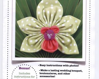 CYMBIDIUM ORCHID Fabric Flower Brooch Pattern - NEW & Uncut - CR002