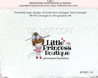 1261-14 GIRL Logo Design, Sketch DOLL logo design, doll boutique logo,  sweet doll fashion business logo, boutique by princessmi