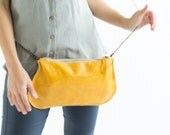 Yellow Crossbody Bags,  leather Yellow purse, leather clutch yellow bag, leather yellow wristlet, leather yellow pouch, yellow Evening Bags