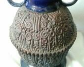 Blue Ceramic Coil Pot