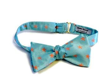 Starfish Bow Tie, Men's Bow Tie, Adjustable Bow Tie, Self-tie Bow Tie, Pre-tied Bow Tie, Beach Wedding Bow Tie, Coastal Bow Tie, Preppy Bow