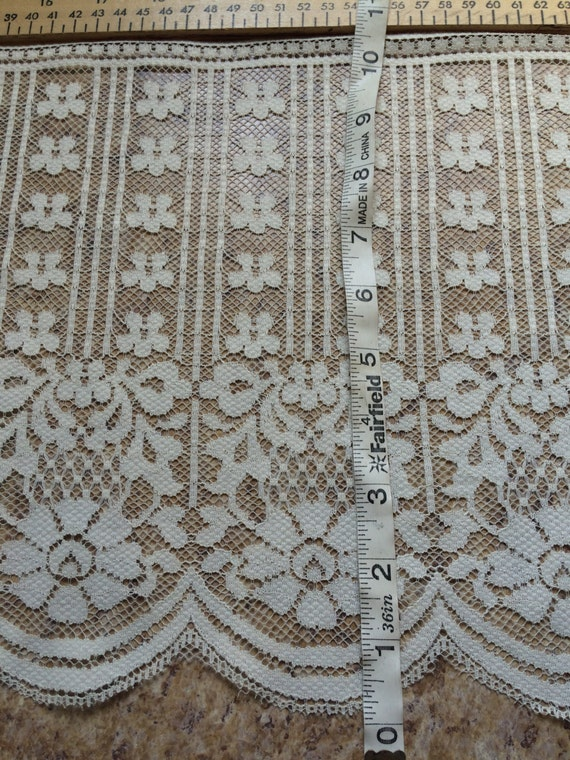"""PER YARD IVORY 10.5"""" wide lace trim doll clothes doll making sewing bridal wedding wide craft favors cosplay costume floral flower Halloween"""