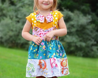 Girl's ABC Jumper skirt back to school