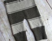 SALE Newborn Baby Boy Upcycled Pants - Dark Brown Stripe - IRREGULAR - Deeply Discounted - RTS