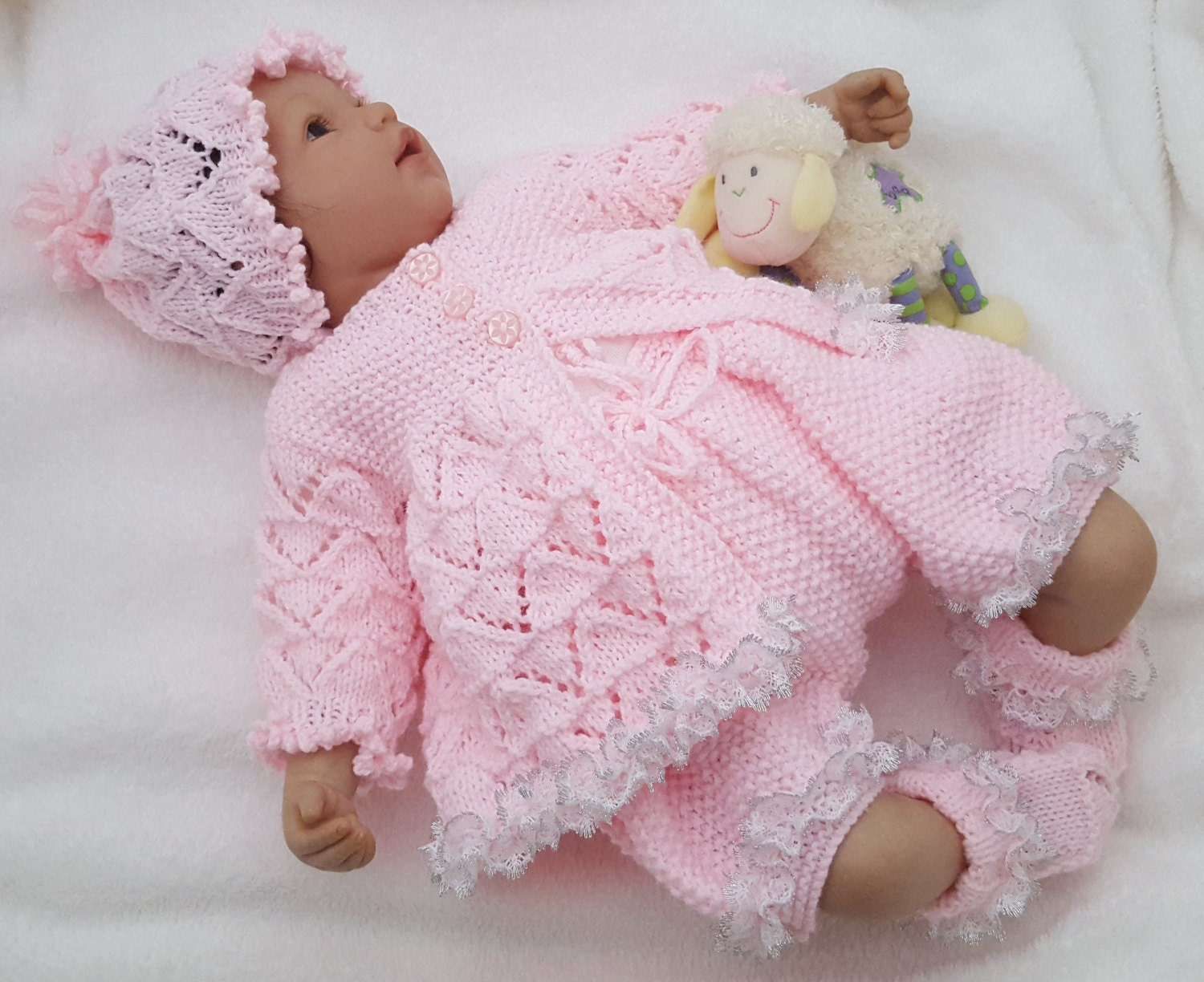 Baby Girl Sweater Patterns Knitting : Baby Girls Knitting Pattern Download PDF Knitting Pattern