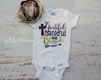 Thanksgiving Bodysuit for Baby Girls/Baby Girl Bodysuit/Glitter Bodysuit/Sparkle Bodysuit/Thanksgiving Shirt/Baby Girl Clothes/Thanksgiving