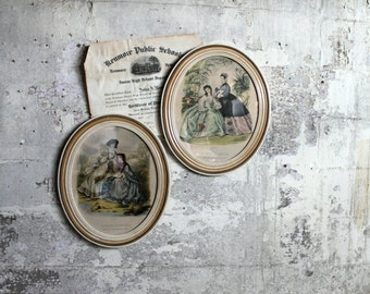 Vintage Victorian Style Framed Print