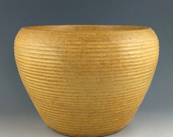 Zanesville Stoneage Modern architectural pottery plant pot