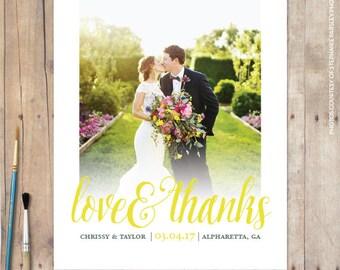 Wedding Thank You Card, Thank You Cards Wedding, Wedding Thank You Postcard, Thank You Cards