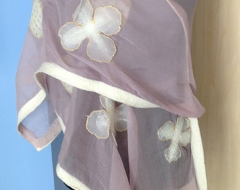Lavender Chiffon Shawl