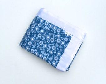 Baby Girl Blanket - Blue and Yellow - Newborn Gift