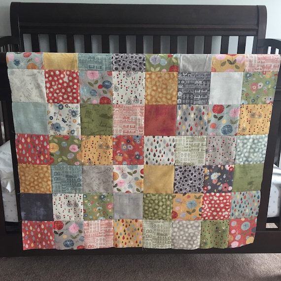 Baby Girl Quilt Patchwork Crib Bedding Patchwork Blanket