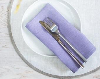 Lavender Napkins Cloth Weddings Linen Napkins Set 6 Violet Napkins Classical Napkins Weddings napkins